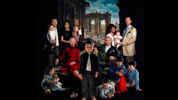 <p>For the first royal family portrait in 125 years, Denmark's Queen Margrethe II turned to painter Thomas Kluge. Four years later, the painting is done and, well, it's <a href=&quot;http://www.fastcodesign.com/3022006/design-crime/this-painting-of-the-danish-royal-family-will-steal-your-soul&quot; target=&quot;_self&quot;>certainly interesting</a>.</p>