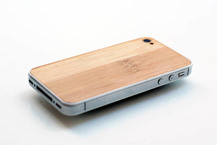 <p><a href=&quot;http://www.fastcodesign.com/1671907/eden-a-hacker-brand-for-remaking-your-iphone-with-wood&quot; target=&quot;_self&quot;>Eden</a> is a replacement backplate for the iPhone made out of wood. The kit costs about $120, <a href=&quot;http://www.eden-made.de/&quot; target=&quot;_blank&quot;>here</a>.</p>