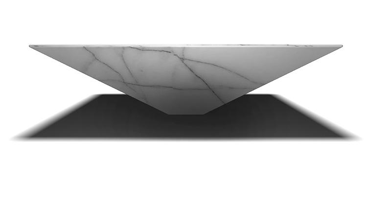 "<p>It was while visiting a marble producer to fabricate the label's covetable Marie lamp that Haymann and Grilo discovered slender marble slices mounted on a honeycomb aluminum structure: ""We thought this would be a great way to work with marble without the weight of marble,"" Haymann recalls.</p>"