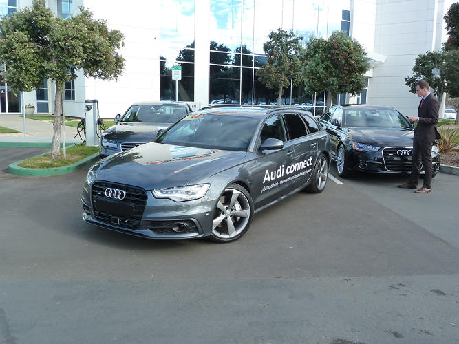 <p>Move over, Google. Audi <a href=&quot;http://v&quot; target=&quot;_blank&quot;>became the second company</a> to be licensed to run autonomous vehicles in Nevada. As we saw at an exhibition of the tech from its Electronic Research Laboratory, its cars are already well on their way to ditching the driver.</p>