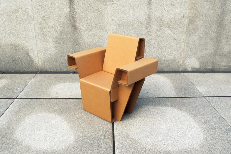 <p>Chairigami's furniture <a href=&quot;http://www.fastcoexist.com/1682668/could-this-cardboard-furniture-replace-your-ikea-chairs-and-bookshelves&quot; target=&quot;_self&quot;>is made from recycled cardboard</a> and there's no assembly required: They don't use any glue or fasteners.</p>