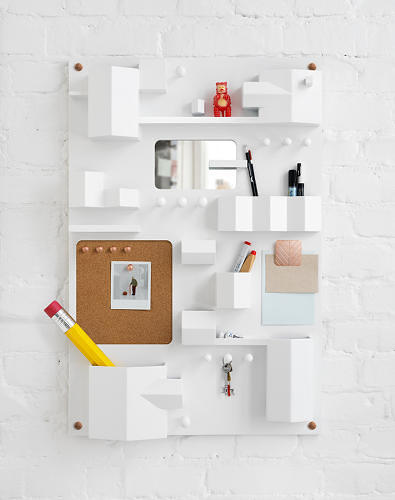 <p>In 1969 Dorothee Becker designed the Uten.silo storage unit for Vitra and it quickly became an iconic item. Swedish design house Note Studio created <a href=&quot;http://www.fastcodesign.com/1672548/a-deskside-storage-unit-inspired-by-the-swedish-suburbs&quot; target=&quot;_self&quot;>a Scandinavian update</a> of the organizational tool. It's made by Seletti, and <a href=&quot;http://www.scp.co.uk/collections/london-design-festival/products/suburbia-wall-organiser&quot; target=&quot;_blank&quot;>costs around $450</a>.</p>