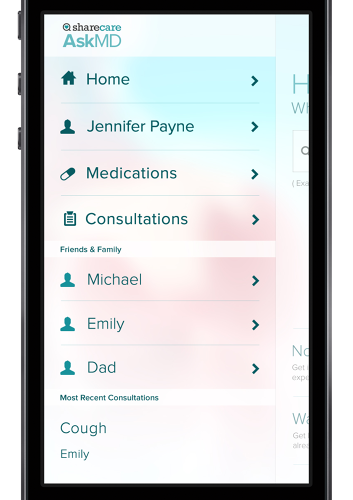 <p>AskMD also supports profiles for others you might be consulting for, like your children or an elderly family member.</p>