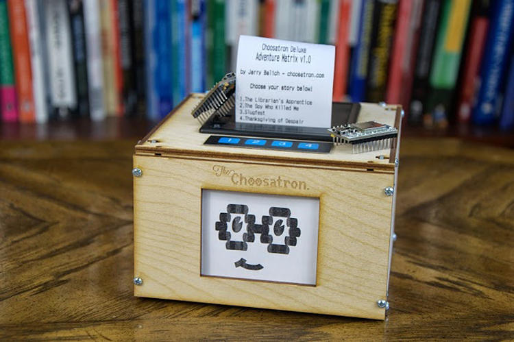 <p><strong>Choosatron</strong><br /> A thematic cousin to the <a href=&quot;http://www.fastcodesign.com/1670509/its-finally-out-a-little-printer-that-delivers-a-tiny-custom-newspaper&quot; target=&quot;_self&quot;>Little Printer</a>, the Choosatron is a machine that prints out an interactive story. It's an excellent reminder that physical objects can still drive delight in the digital age. [<a href=&quot;http://www.fastcodesign.com/1673165/a-tiny-printer-for-every-choose-your-own-adventure-lover&quot; target=&quot;_self&quot;>Link</a>]</p>