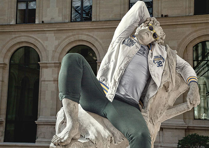 <p>Léo Caillard photographed hip Parisians in trendy garb, and mapped their clothes onto nude Hellenic sculptures taken from the Louvre. The result? &quot;Hipsters in stone.&quot; Check out more of his incredible work <a href=&quot;http://www.fastcodesign.com/1672846/behold-classical-greek-statues-dressed-up-like-hipsters&quot; target=&quot;_self&quot;>here</a>.</p>