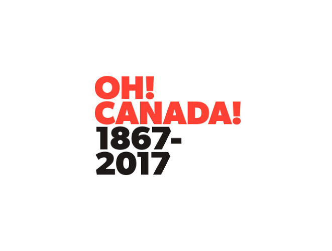 "<p>Melissa Agostino<br /> Designer, Partner<br /> Sali Tabacchi Inc. <br /> A play on Canada's anthem ""O Canada"", using ""Oh! Canada!"" to indicate that it's actually a big deal to be 150 years old and everyone should get excited! Font used: Gibson, designed by Canadian type designer Rod McDonald.</p>"