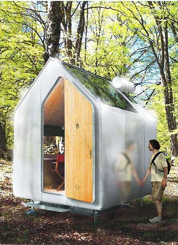 <p>This single occupancy mobile home looks a bit like a Port-O-Potty from afar, but Renzo Piano's <a href=&quot;http://www.fastcodesign.com/1672823/renzo-piano-s-latest-an-off-the-grid-one-person-mobile-home&quot; target=&quot;_self&quot;>Diogene</a> is an off-the-grid fantasy complete with photovoltaic solar cells, a rainwater tank, a composting toilet and natural ventilation system.</p>