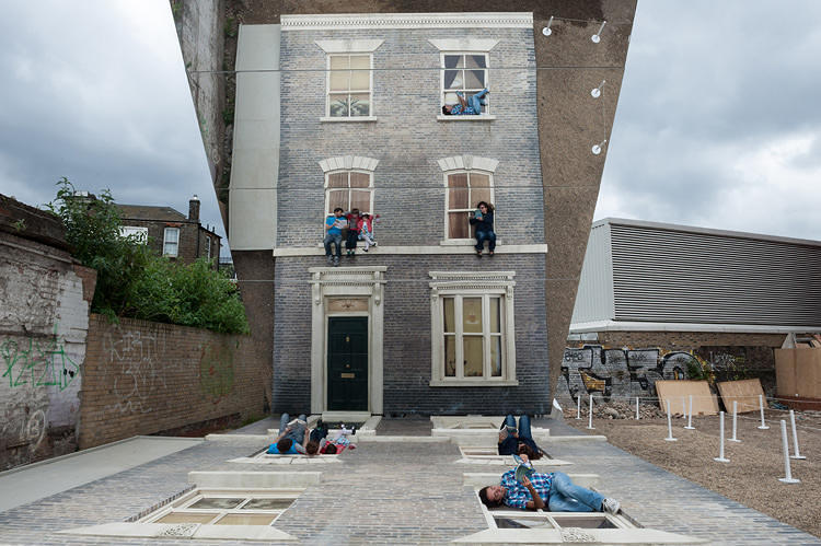 <p>Who wouldn't want to scale walls like Spiderman? Leandro Erlich's <a href=&quot;http://www.fastcodesign.com/1672972/this-house-gives-you-spidey-power&quot; target=&quot;_self&quot;><em>Dalston House</em></a> uses mirrors to give visitors the illusion of crawling up a building sans harness as they safely explore a fake facade flat on the ground.</p>