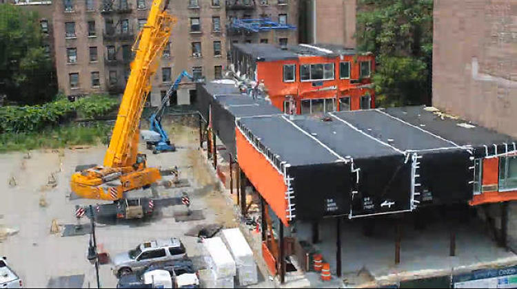 <p>Earlier this year, <a href=&quot;http://www.fastcodesign.com/1673003/watch-a-new-prefab-building-rise-in-nyc-stack-by-stack&quot; target=&quot;_self&quot;>the Stack</a> a modular housing structure from Gluck+, began to take shape in New York's Inwood neighborhood. The seven-story, moderate-income apartment building is the city's <a href=&quot;http://www.fastcodesign.com/1673057/this-prefab-building-is-a-first-for-new-york&quot; target=&quot;_self&quot;>first prefabricated residential structure</a>.</p>