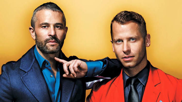 "<p>One of these men is no longer with Fab: ""Jason has always felt like he wanted to do something in this world,"" says Chief Design Officer Bradford Shellhammer, right, of CEO Jason Goldberg, ""but he didn't know how to get people to look at him."" Photo by Rennio Maifredi.</p>"