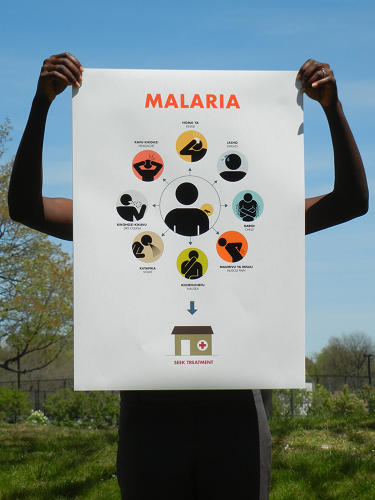 <p>Justin Ahrens and Rule29 worked with design students to create this malaria education campaign.</p>