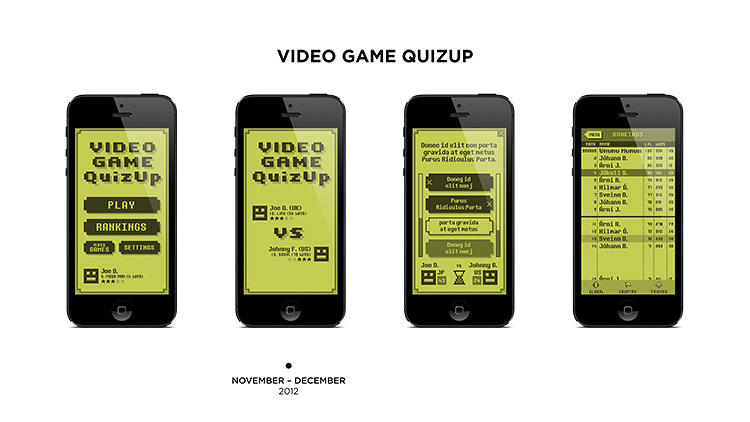 <p>The video game QuizUp inspired by 1980s-era console systems.</p>