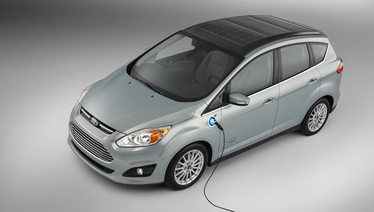 <p>The C-MAX plug-in hybrid can run on solar energy for 21 miles before switching to gasoline.</p>