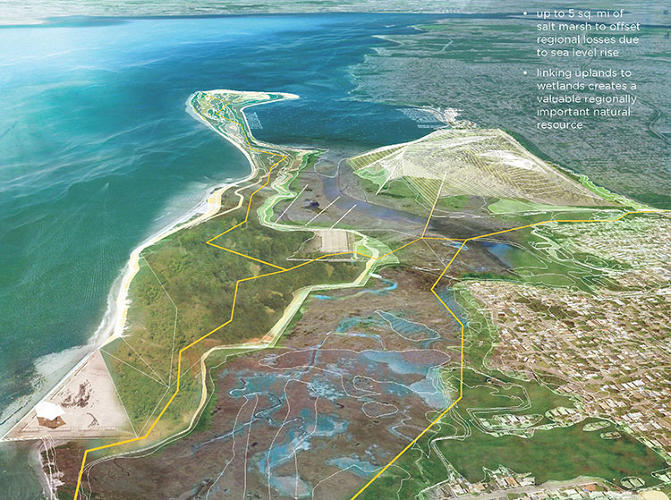 <p>What about a giant park along the New York City coastline?</p>