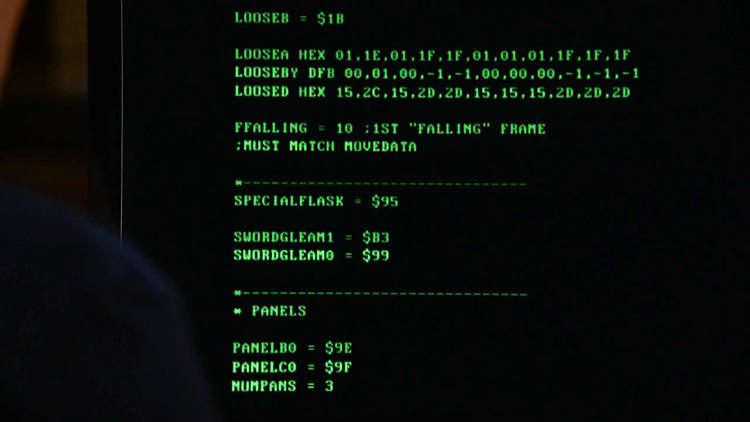 <p>The TV series <em>Revolution</em> (series 1, episode 6) uses code from the Apple II version of Prince of Persia.</p>