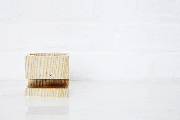 <p>Here's one of the inaugural products: the Block Head desk accessories, by Eric Pfeiffer. (The family costs $65)</p>