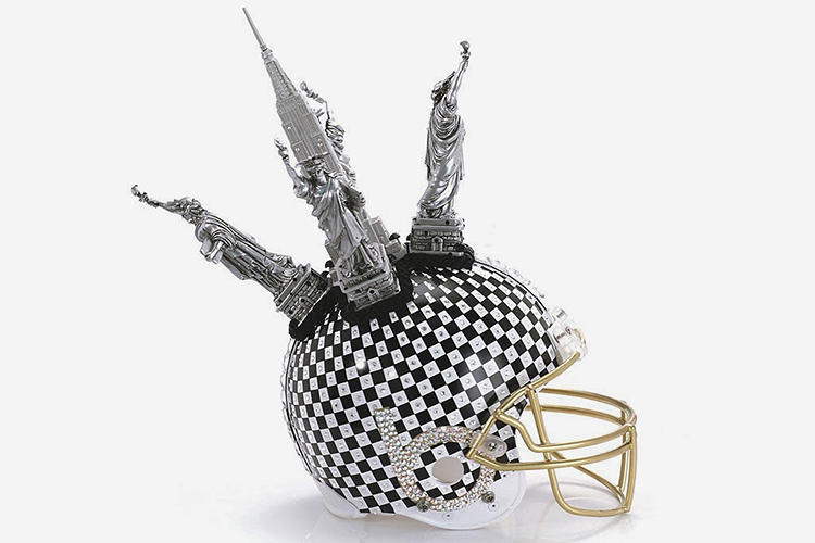 <p>Bloomingdales. For a full list of participating designers and to place your bid on your favorite fashionable helmet, click <a href=&quot;http://media.bloomingdales.com/fashion-touchdown/?fromvanity=/superbowlhelmets&quot; target=&quot;_blank&quot;>here</a>.</p>