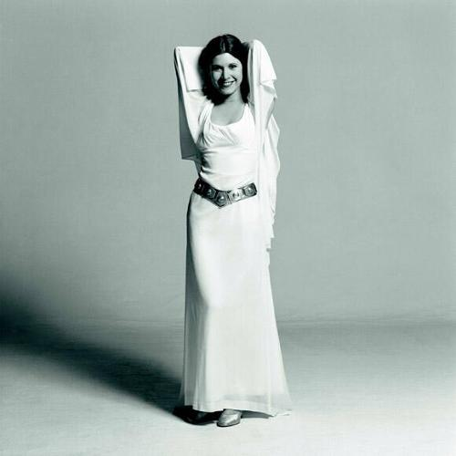 <p>Peter Mayhew seems to have had a thing for a young Carrie Fisher, and who can blame him?</p>