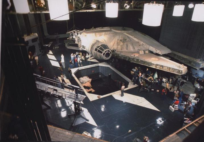 <p>On the set of the Death Star.</p>