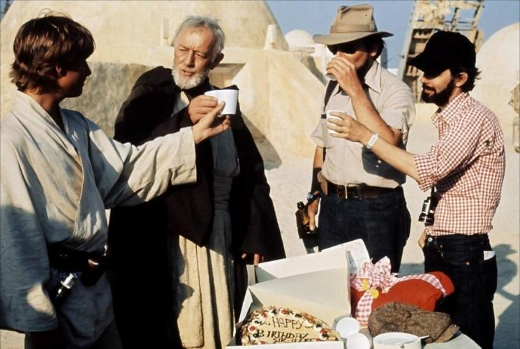 <p>A coffee break on the set of <em>Star Wars</em>.</p>