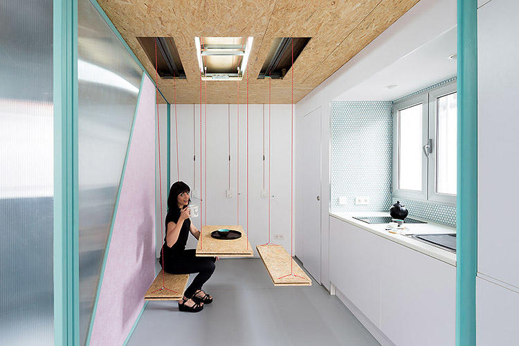 "<p>The rest of the attic apartment is full of similar secret spaces. ""The hidden compartments were the starting point of the project,"" say architects from elii, the Spanish firm that designed the home.</p>"