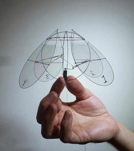 <p>This tiny, super-light flying robot stays stable through jellyfish-inspired design.</p>