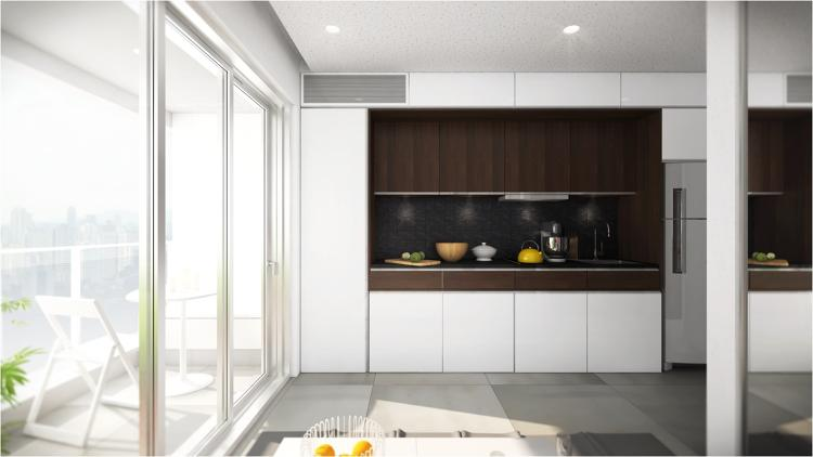 <p>Maximize space with a cleverly designed counter. Most offices don't really need all the storage their kitchens provide. Recapture the value in this dead, under-the-counter space by hiding a visitors' desk.</p>