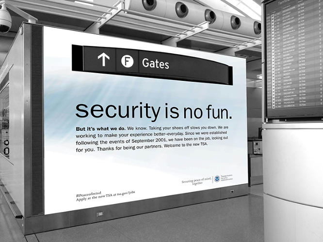 "<p>The TSA is, &quot;a brand that everyone must experience,"" says Jeremy Miller, a master's student at the School of Visual Arts in New York who, along with a few other students, rebranded the TSA experience for a thesis project.</p>"