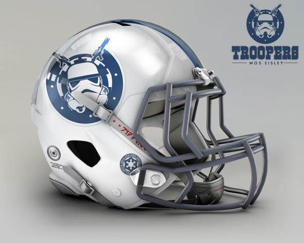 <p>Indianapolis Colts. Mos Eisley, Troopers.</p>