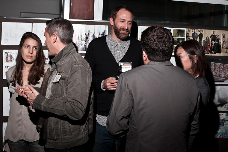 <p>Flipboard chief designer <a href=&quot;http://www.fastcompany.com/person/marcos-weskamp&quot; target=&quot;_self&quot;>Marcos Weskamp</a> (center) and guests.</p>