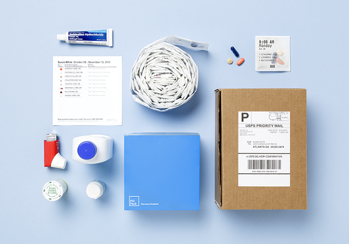 <p>When you get your first shipment, all you do is tear off the first packet and swallow the pills inside at the date and time printed on the front. New PillPacks are automatically sent to you when you need them; four weeks before your last scheduled refill of a prescription, PillPack's pharmacists will follow up with your doctor for a renewal.</p>