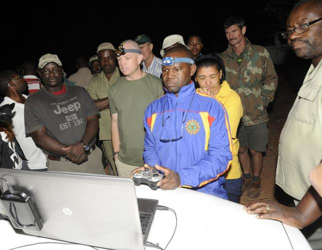 <p>WWF Wildlife Crime Technology Project representatives join Namibian Ministry of Environment and Tourism employees to field test integrated systems for anti-poaching and wildlife monitoring.</p>