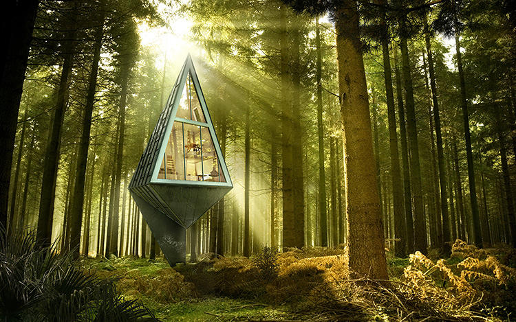 <p>His solution: Tree-shaped houses packed with every conceivable sustainable design element, located in the middle of a forest biking distance from a city.</p>