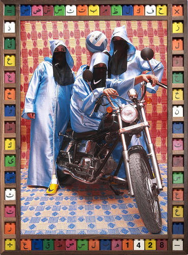 <p>In &quot;Kesh Angels,&quot; photographer Hassan Hajjaj documents the rowdy female biker culture of Marrakesh, which defies stereotypes of Muslim women.</p>