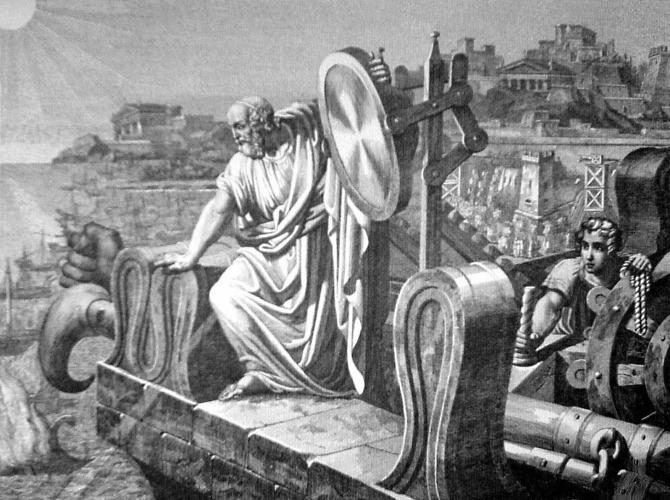 <p>Legend has it that the same Archimedes who built ancient computers used a set of mirrors to burn enemy Roman ships when they approached his native city of Syracuse in 214 BCE.</p>