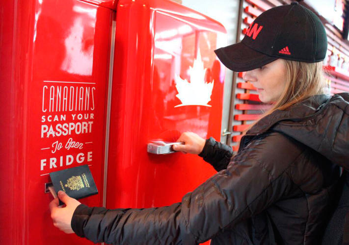 <p>Even though we first saw it more than six months ago, the idea of free beer never gets old. <a href=&quot;http://www.youtube.com/watch?v=8gper3YkzMg&quot; target=&quot;_blank&quot;>Last summer</a> the Canadian brand took the <a href=&quot;http://www.youtube.com/watch?v=ukbwE-dobRQ&quot; target=&quot;_blank&quot;>beer fridge</a> on a European tour where it could only be opened with a Canadian passport. A brilliant idea and one that <a href=&quot;https://twitter.com/Molson_Canadian/statuses/432553007285145600&quot; target=&quot;_blank&quot;>translates to Sochi</a> perfectly. The fridge's appearance at the games was covered by media outlets around the globe.</p>