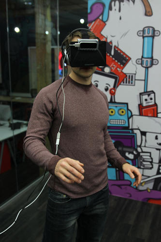 <p>The platform marries a Leap Motion gesture controller with an Oculus Rift virtual reality headset so that students can experience scenarios arguably more memorable than anything they'd read in a book.</p>