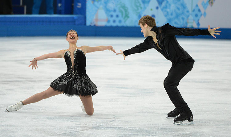 <p>Elena Ilinykh and Nikita Katsalapov of Team Russia skating to Tchaikovsky's &quot;Swan Lake&quot; in Black Swan-inspired costumes. &quot;It's hard to go wrong with black. I think this pair looks stunning.&quot;</p>