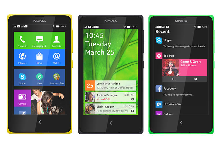 <p>The homescreens look like Windows Phone, but aren't--that's just Nokia's version of Android.</p>