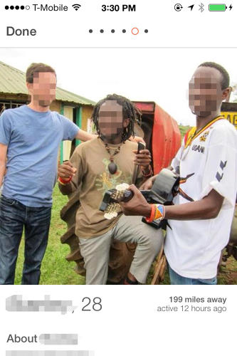 "<p>The ""Gurl Goes to Africa"" Tumblr started documenting Facebook photos of white American college students flaunting study-abroad experiences next to African locals as early as 2010.</p>"