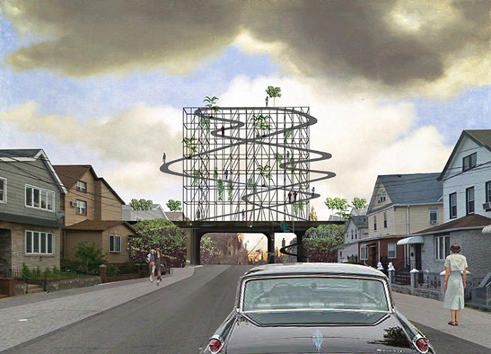 <p>Another entry proposes a crazy-looking rollercoaster-like path to attract visitors.</p>