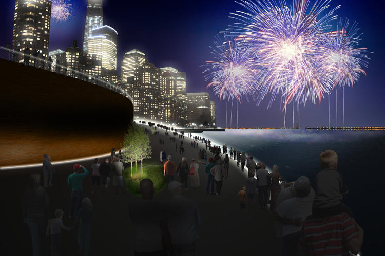 <p>The architects' design calls for 10 new compost hubs on the waterfront that generate 125 acres of public parkland.</p>