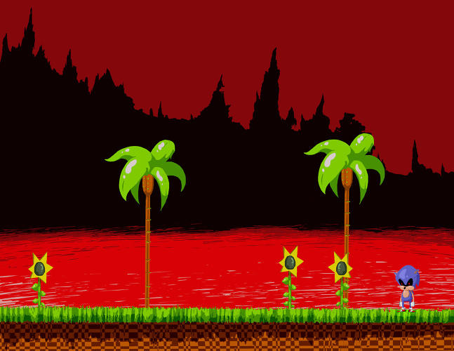 <p>The <a href=&quot;http://www.creepypasta.co.uk/2013/07/sonicexe.html&quot; target=&quot;_blank&quot;>Sonic.Exe</a> version of the popular SEGA game is thought to be caused by a glitch in the hardware...or possibly by more sinister, otherworldly forces.</p>