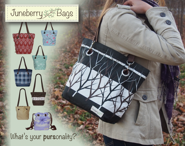 <p>Juneberry is a three-in-one bag: a shoulder bag, drawstring backpack, and messenger bag. Owners can change the look of their Juneberry bags by swapping out the cover. &quot;I wanted to offer a purse that is as versatile as a woman's life, offering the variety that she needs for all the things she does,&quot; said Natalie Goodale.</p>