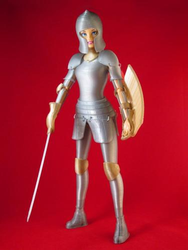 <p>The latest &quot;anti-Barbie&quot; Barbie is covered in armor.</p>