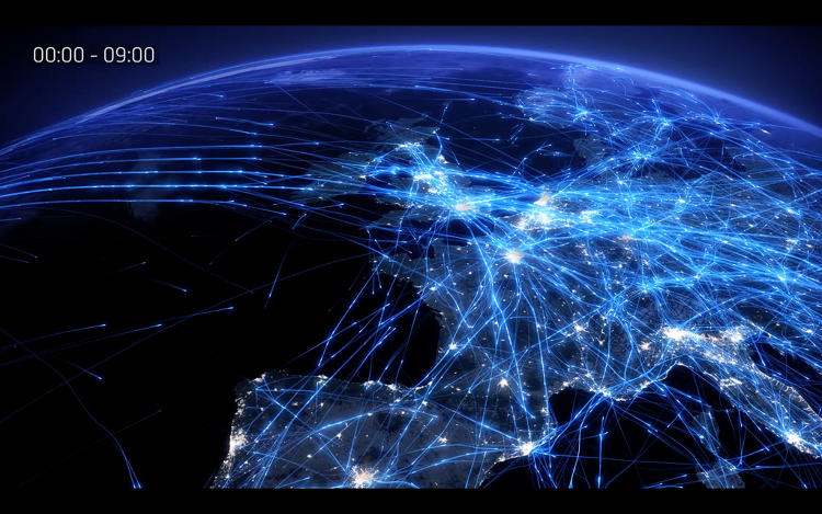 <p>On a summer day, around 30,000 flights cross Europe, traveling a distance equal to 100 trips to the moon.</p>