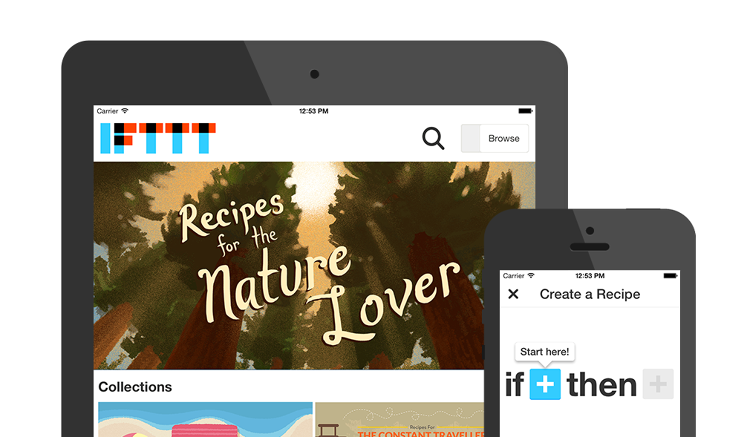 <p>IFTTT has launched an iPad app to help users browse and create recipes.</p>