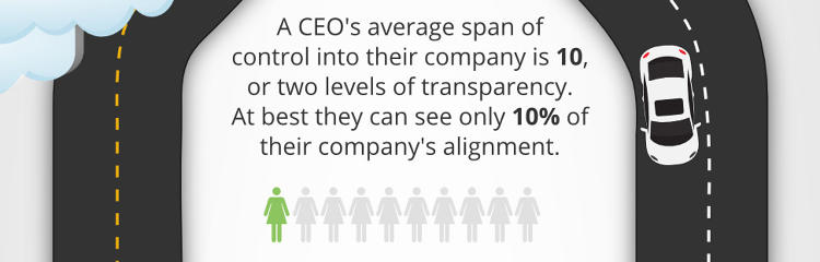 <p>How much of your company alignment can you see?</p>