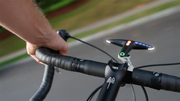 <p>The Hammerhead is a bike navigation system that points out the way with flashing LED lights.</p>