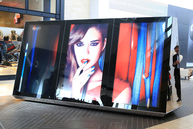 <p>The giant touch screens are  near the entrance to a new addition to Garden State Plaza.</p>